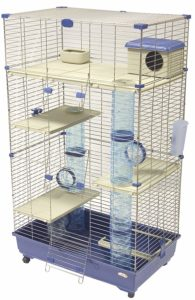 Marchioro Sara 82 C3 Cage For Small Animals With Wheels 32.25 Inches Blue